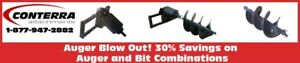 Conterra Auger and Bit Sale, 30% Savings! Starting at $2,899.00