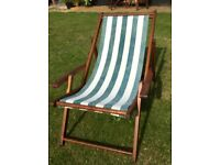 Older deckchair deck chair, fantastic, with only the fabric showing fading. Wood is excellent.