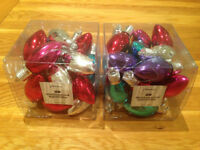 2 Boxes of 20 Paperchase Shatterproof Lightbulbs Christmas Tree Ornaments JUST REDUCED