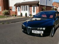 Alfa Romeo 159 1.9 JTDM 16v Lusso 4dr - LIMITED EDITION BLACK CAR WITH RED LEATHER INTERIOR.