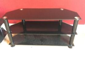 Black Glass TV Stand 90cm GREAT CONDITION