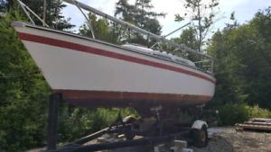 1977 22 FOOT ODay Sailboat
