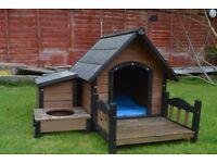 Dog Kennel (+Storage, Platform & Water Bowl Stand)