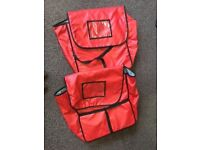 2 Red Pizza Delivery Bags