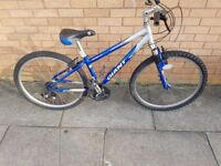 Giant mountain bike with 26 inch wheel with small frame size
