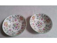 Haddon Hall Fruit bowls x 2