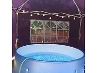 HOT TUB HIRE - with gazebo, lights, LED ice bucket