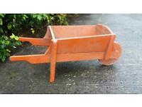 Old vintage antique childs wheelbarrow