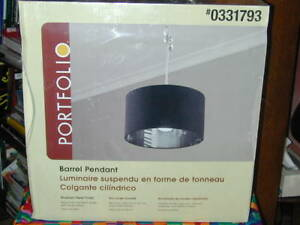 """""""NEW"""" IN BOX HANGING BARREL PENDANT LIGHT FIXTURE.PRICE REDUCED!"""