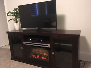 Electric fireplace TV console / stand