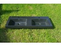Brand new designer double sink by GSI black colour great bargain