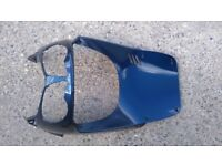 2011 Aprila SportCity 300 Upper Fairing - front plactic body panel BLUE good cond.