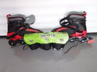 Roller Blades with Safety Gear