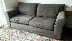 NEXT 3 seater sofa brown mocha