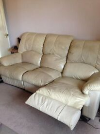 Leather recliner sofas 3 seater plus 2 seater