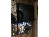 PS4 500gb with games and headset