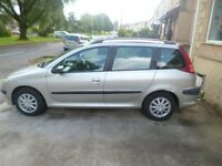 for sale peugeot 206 2 ltr hdi s estate