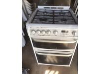 Hotpoint cannon white gas double oven 600mm