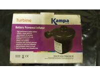 Brand New Kampa Battery Operated Electric Pump Inflator For Caravans Motorhomes, Camping or Home Use