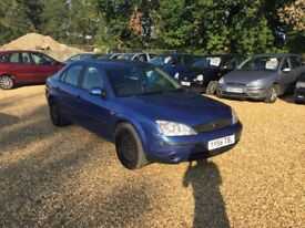 2001 Ford Mondeo 1.8 LX 6 Months MOT 3 Former Keepers Cheap Car