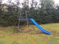 Childrens climbing frame and slide.