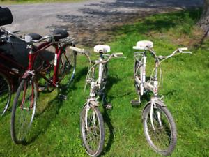 4 Vintage bicycles