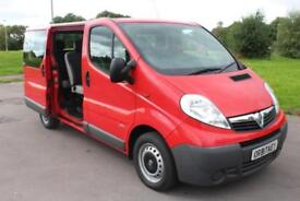 Vauxhall Vivaro 2.0CDTi 16v ( E5 ) 9 Seater Mini Bus / Combi Diesel Red 62 Reg