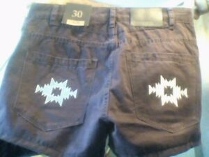 brand new tainted denim shorts