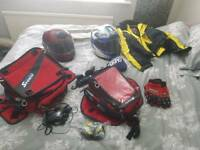 Motorbike bags, clothing and accessories