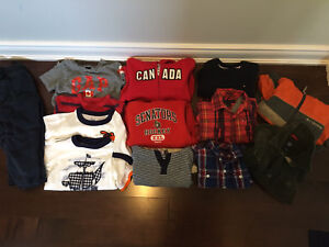 Boys fall clothes - EUC 18 mnths - 2 T