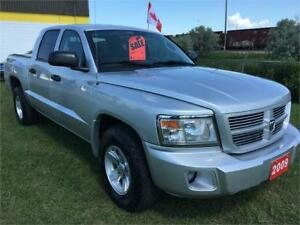 2009 DODGE DAKOTA SXT, 4X4, ONLY 117KMS, NEW TIRES, 204-509-0008