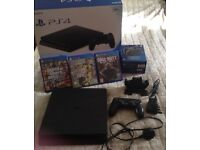 PS4 console and games bundle