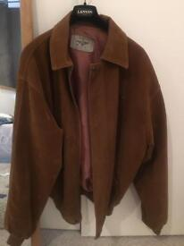 Brown swede leather jacket