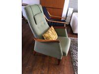 Danish Inspired Mid Century 'Rocker Recliner' Chair