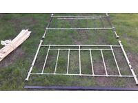 King Size Bed Frame. Steel frame with wooden sprung slats