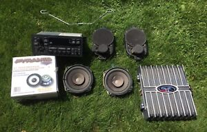 Jeep TJ OEM stereo, dash speakers, and extras