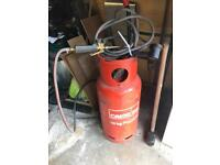 Gas bottle with blow torch & boiler ring
