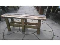 Rustic Garden Bench (118 cm long)