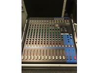 Yamaha MG16XU 16 channel analog sound desk mixer. Not digital. Comes with purpose built flightcase