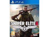 ps4 sniper elite 4 brand new sealed
