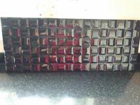 black ceramic wall tiles
