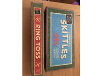 Brand new wooden garden games- skittles and ring toss