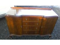 Beautiful vintage Beithcraft serpentine front sideboard