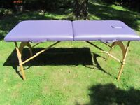 Massage table with removable face cradle