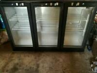 Blizzard 3 door pub bar bottle cooler fridge