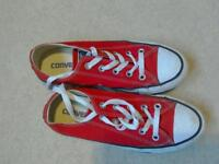 Girls red Converse size 4