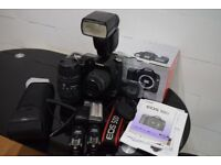 Canon 50D with 2 Lenses, Flash and Wireless Triggers, Box and Canon Battery Grip