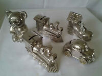 Collection Of Solid Metal Childrens Banks (5).