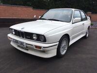 BMW E30 M3 215 BHP 1990(G) ALPINE WHITE BLACK LEATHER STUNNING