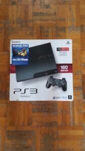 Console PS3 avec boîte + 1 manette et fils